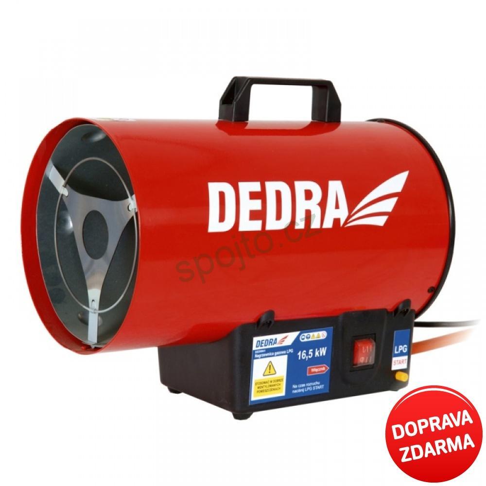 Plynové topidlo DEDRA - ohřívač vzduchu 16,5 kW DED9941