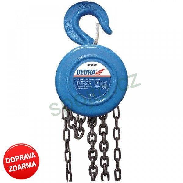 Řetězový zvedák, kladkostroj 1000 kg DEDRA DED7901