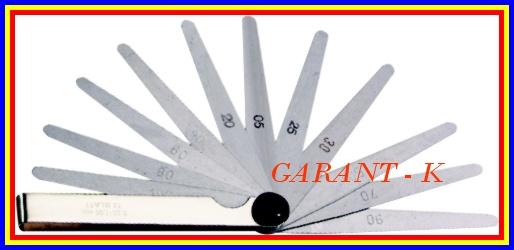 Měrky spárové 13 listů rozsah 0,05mm-1mm XTline