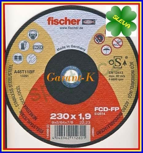 Řezací kotouč 230x1.9x22.2 FISCHER