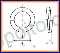 Podložka pérová pro M7 NEREZ A2 DIN 127B