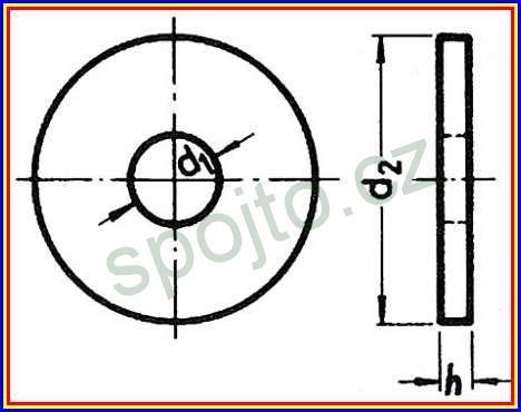 Podložka pod dřevěné konstrukce pro M6 bez PÚ DIN 440