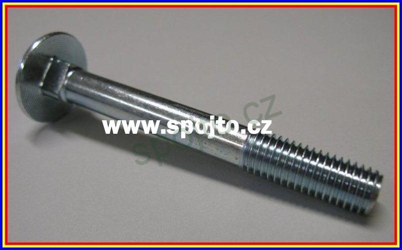 Vratový šroub M5 x 35 zn