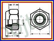 Matice pojistná M 8 DIN 985 ZINEK