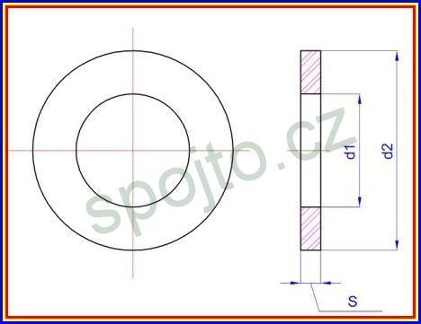 Podložka plochá M6 NEREZ A2 DIN 125