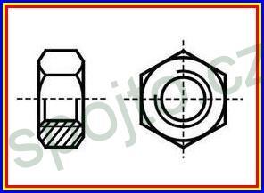 Matice M 10 NEREZ A2 přesná šestihranná DIN 934
