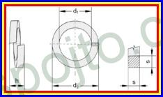 Podložka pérová pro M14 ZINEK DIN 7980