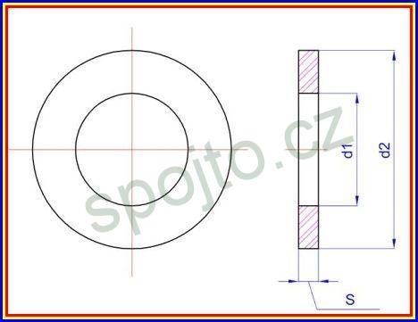 Podložka plochá M12 NEREZ A2 DIN 125