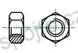 Matice M12 ZINEK 8.8 přesná šestihranná DIN 934