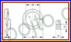 Podložka pérová pro M30 ZINEK DIN 7980